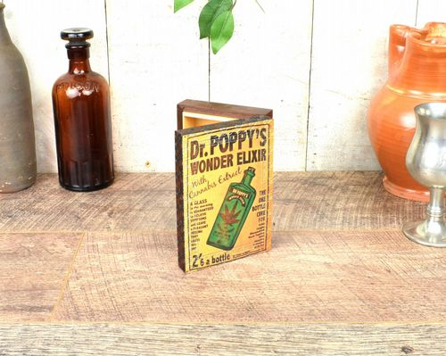 Vintage Box Small With Lid, Cannabis